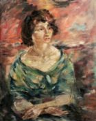 "Wilhelm Kohlhoff1893 Berlin - 1971 Schweinfurt - ""Damenportrait"", um 1921 - Öl/Lwd. 100 x 80"