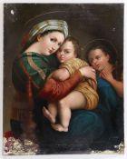 Künstler des 19. Jahrhunderts nach Raffael- Madonna della seggiola - Öl/Lwd. auf Holz. 69 x