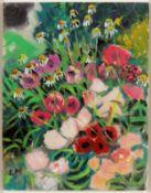 Lothar Malskat1913 Königsberg - 1988 Wulfsdorf bei Lübeck - Blumen im Garten - Gouache/Papi