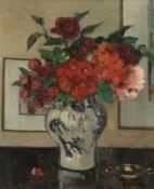 Marie Berton-Maire1868 Roubaix - Blumenvase - Öl/Lwd. 65 x 53,7 cm. Sign. r. u.: M Berton Ma