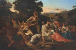 Künstler des 19. Jahrhunderts - Brunnenstreit von Isaak und den Philistern - Öl/Lwd. 126 x 173 cm
