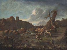 Philipp Peter Roos1651 Frankfurt a.M. - 1705 Tivoli bei Rom - Hirte mit Tieren in der Landsch