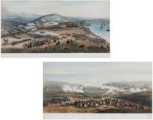 """Lithografen des 19. Jahrhunderts- """"Panorama du Siège de Sébastopol"""" - - """"Panorama de la Bat"""