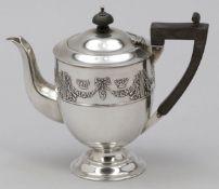 Mokkakanne / Mocha pot William Hutton & Son/Brimingham/England, um 1906/07. 925er Silber. Pun