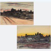 "Paul Weiser 1877 Erdmannsdorf - 1967 Gera - ""Cáceres"" - Aquarell/Papier. 24,5 x 36 cm (Passe"