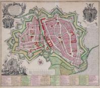 """Georg Mathäus Seutter 1678 - 1757 - """"Accurata et novissima repraesentatio ichnographica Hann"""