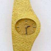 Asymmetrische Omega-Damenarmbanduhr Fa. Omega Watch & Co., Schweiz. 1980er Jahre. 750/- Gelbg
