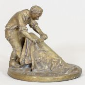 Bonifatius Stirnberg 1933 Freienohl - Gerber - Bronze. Goldbraun patiniert. H. 31,5 cm. Auf d