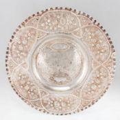 Große Etrogschale 835er Silber. Punzen: Herst.-Marke, 835. D. 47 cm. Gew.: 1220 g. Reich ver