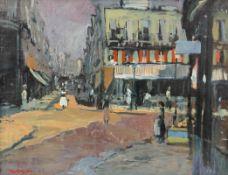 Willy Nilsson 1920 Kopenhagen - Pariser Straßenszene - Öl/Lwd. Doubl. 72 x 94 cm. Sign. l.