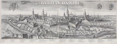 """Georg Balthasar Probst 1732 Augsburg - 1801 Augsburg - """"Hannovera. Hannover"""" - Kupferstich/Pa"""