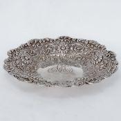 Konfektschale Tiffany & Co/New York/USA. 925er Silber. Punzen: Herst.-Marke, Sterling, Patter