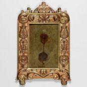 Bilderrahmen 19. Jahrhundert. Bronze, feuervergoldet. Maße innen / außen: 17,8 x 11,8 cm /