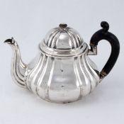 Biedermeier Teekanne Hermann Friedrich Wilhelm Bückmann/Hannover, um 1850. 750er Silber. Pun