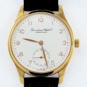 IWC-Herrenarmbanduhr in Gelbgold Fa. International Watch Co., Schaffhausen. Modell: Kleine Po