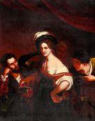 Xavier Sigalon 1787 Uzès - 1837 Rom - Die junge Kurtisane (la jeune courtisane) - Öl/Zink.