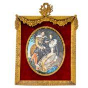 G. Keller Künstler des 19. Jahrhunderts - Rubens und Isabella Brant in der Geißblattlaube -