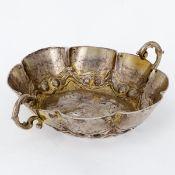 Branntweinschale Abraham Grill/Augsburg, um 1680. Silber. Punzen: Herst.-Marke, Stadtstempel,