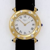 Chopard-Damenarmbanduhr Fa. Chopard, Genève. 750/- Gelbgold, gestemp. Gewicht: 34,4 g. Auf d