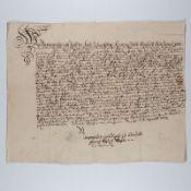 Urkunde 1762 M. Un., O. u. D.: Heinrich August Nagler, Carl Christian Lühr / Arnstadt / 1762