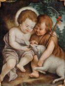 Künstler des 17./18. Jahrhunderts - Christus und Johannes der Täufer als Kinder - Öl/Kupfe