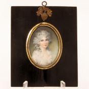 George Engleheart 1750 Kew - 1829 Blackheath attr. - Bildnis einer Dame (Lady Shelly) - Aquar