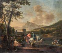 Gerrit Adriaensz Berckheyde Haarlem 1638 - 1698 attr. (da nicht signiert) - Jagdszenerie vor
