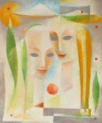 Julius Wilhelm Blume 1913 Wesel - 1987 Duisburg - Kubistische Komposition mit zwei Frauen - Öl/