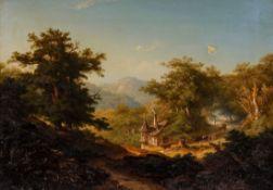 Georg Theodor Huth 1821 Frankfurt am Main - 1896 Frankfurt am Main - Bewaldete Mittelgebirgsl