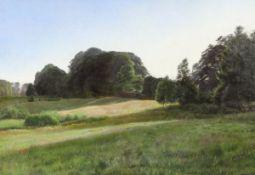 George Henri Boughton 1833 Norwich - 1905 London - Englische Sommerlandschaft - Öl/Lwd. 84 x