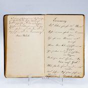 Poesiealbum eines Unbekannten Ende 19. Jahrhundert. Gepr. Ldr., dreifacher goldener Schnitt,
