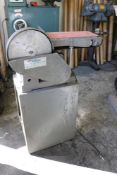 """1995 Rotland 6"""" x 9"""" Belt and Disc Sander, 1/2 HP with Extra Sanding Belt"""