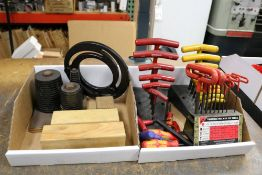 Letter and Number Punches, Jaw Cutting Sizing Rings, T-Handle Hex Keys and Lathe Jaw Sizing Ring