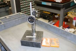 """Drop Indicator .001"""" - 2"""" with Black Granit Surface Plate Stand and Extra Drop Indicator"""
