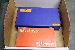 "Mitutoyo Blade Micrometer 0 - 1"" and Fowler Blade Micrometer 1"" - 2"""
