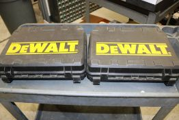 (2) DeWalt Angle Hand Drills DW920K-2 with Batteries and Chargers
