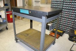 """Standridge Black Granite Surface Inspection Plate with Stand 24"""" x 36"""" x 4"""""""