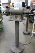 "Dayton 7"" Bench Grinder 1/2 HP on Heavy Duty Stand, Model 2Z341 M"