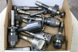 Box of Various R8 Tooling, Criterion DBL 202, Jacob Chuck, Side Lock and Face Mill Tooling
