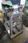 "Dayton 8"" Buffer/Grinder with Steel Wheels on Heavy Duty Metal Stand"