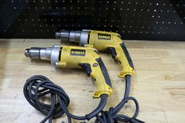 "(2) DeWalt Corded 1/2"" VSR Drills: Models DW235G"