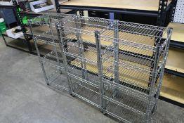 """(3) Stainless Steel Wire Racks 17"""" x 12"""" x 35"""""""