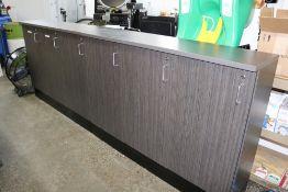 "(2) Inspection Room Locking Cabinets 60"" x 15"" x 43"""