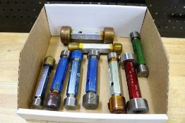Box of Various Large Internal Thread Gages