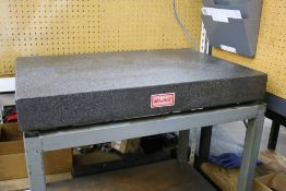 """Mojave Black Granite Surface Plate on Heavy Duty Metal Stand 24"""" x 36"""" x 4"""""""