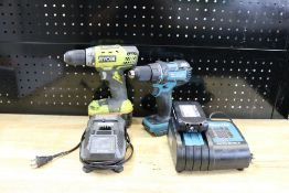 Makita XFD06 Cordelss Drill 18V with Battery and Charger, Ryobi 18v Cordless Drill with Battery