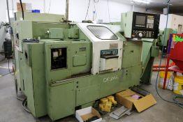 1989-1992 Vintage Okuma LB-15 CNC Turning Center, 12 Station Turret, Parts Catcher, Traveling