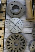 """12"""" Lathe Face Plate, 9"""" Lathe Face Plate and (2) 10"""" Sized Face Plates"""