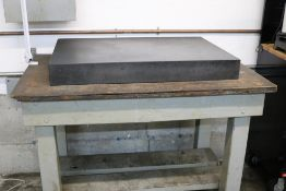 """Black Granite Surface Plate and Wood Shop Table 24"""" x 36"""" x 4"""""""