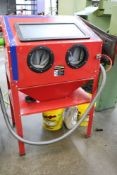 Central Pneumatic 40 LB Capacity, Floor Blast Cabinet with Shot Material